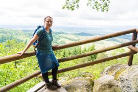 Melanie Steinlein, Leiterin der Tourismus-Information in Ottenhöfen, hat in den vergangenen 15 Monaten rund 1.900 Kilometer im Acher- und Renchtal zurückgelegt.