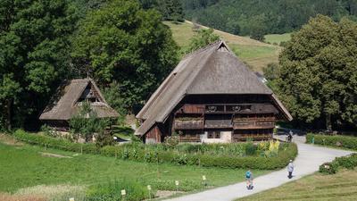 Vogtsbauernhof von oben im Freilichtmuseum Gutach