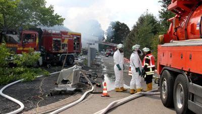 Brand in Chemielager Achern