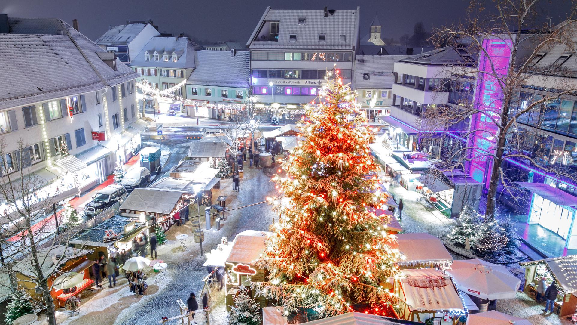 ABB Achern Weihnachtsmarkt 2017 im Schnee