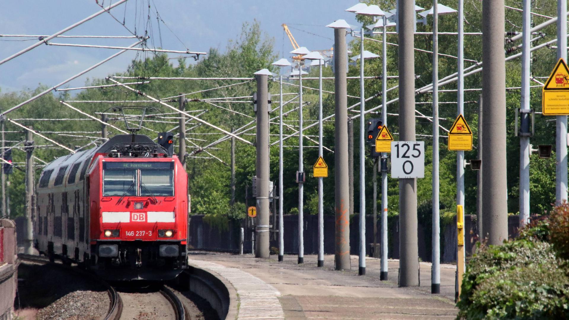 Bahnhof Achern Stadtbahn DB Regio Anschluss Klinik