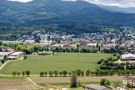 Luftbild einer Wiese