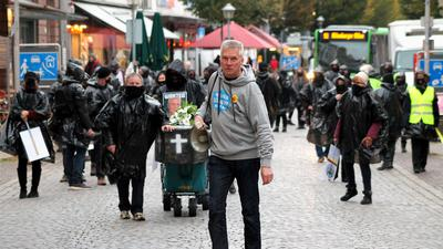 Protestzug in der Offenburger Innenstadt