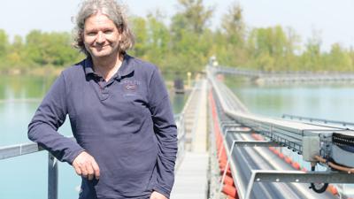 Jan Minthe Betreiber des Kieswerkes in Diersheim