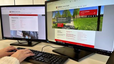 An den Computer statt ins Rathaus: Die Kommunen in der Region bieten immer mehr Bürgerdienste auch digital an. Diese werden fast allerorts gut angenommen, allerdings nicht unbedingt mehr, seit wegen der Corona-Pandemie Kontakte eingeschränkt werden sollen.