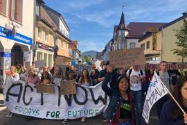 Jugendliche von Fridays for Future ziehen durch Achern