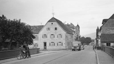 """Ansicht aus alten Zeiten: Im """"Lamm"""" kamen eins Fuhrmänner aus dem Elsass, Geschäftstreibende aus der Umgebung oder Acherner Arbeiter unter."""