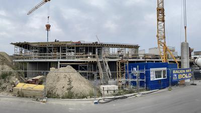 Baustelle Neuer Kindergarten auf dem ehemaligen Gelände der Glashütte in Achern
