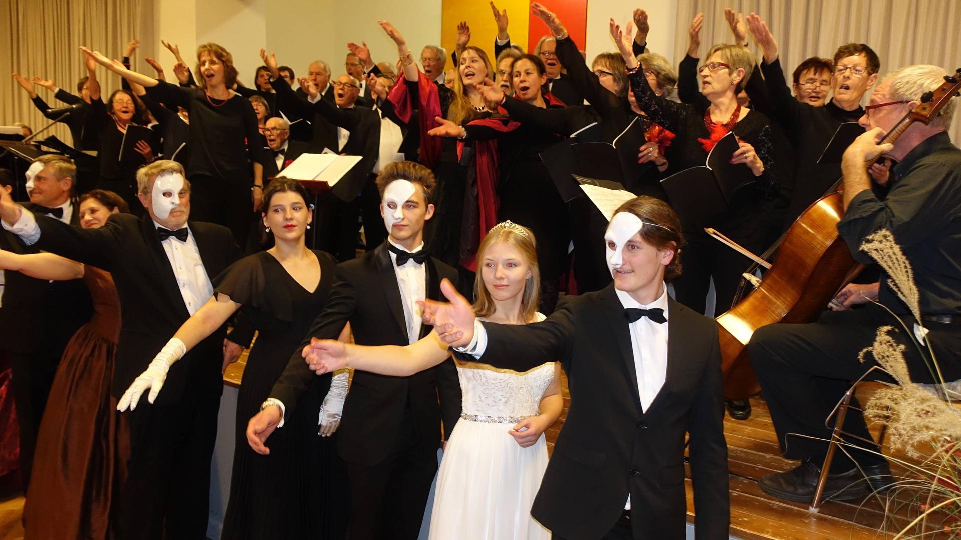 Liedertafel Achern singt beim Jahreskonzert.