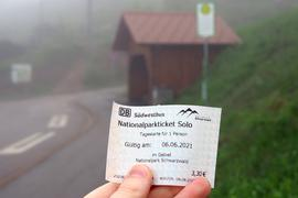 Nationalparkticket Haltestelle Mummelsee