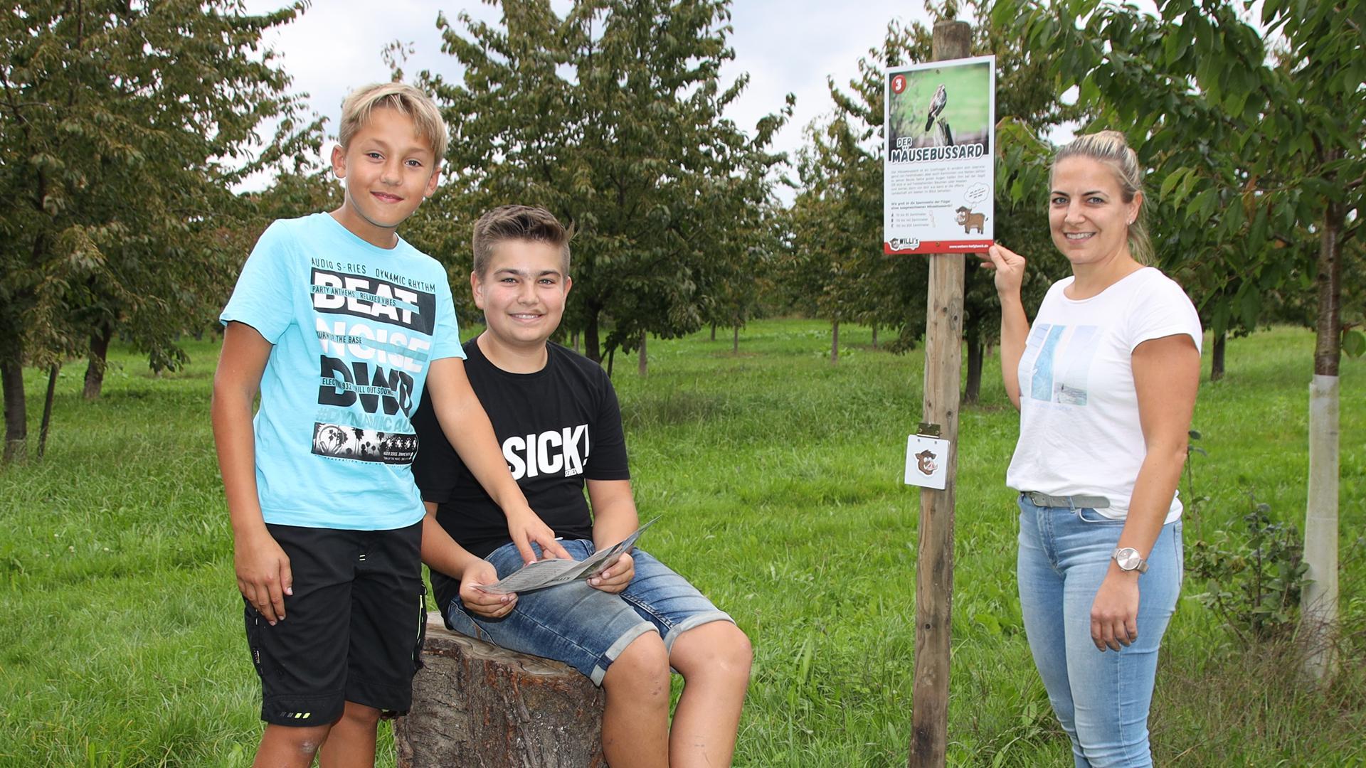 Wildtierpfad in Mösbach neu angelegt mit interaktiven Aktionen