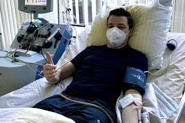 Sven Bohnert spendete Stammzellen