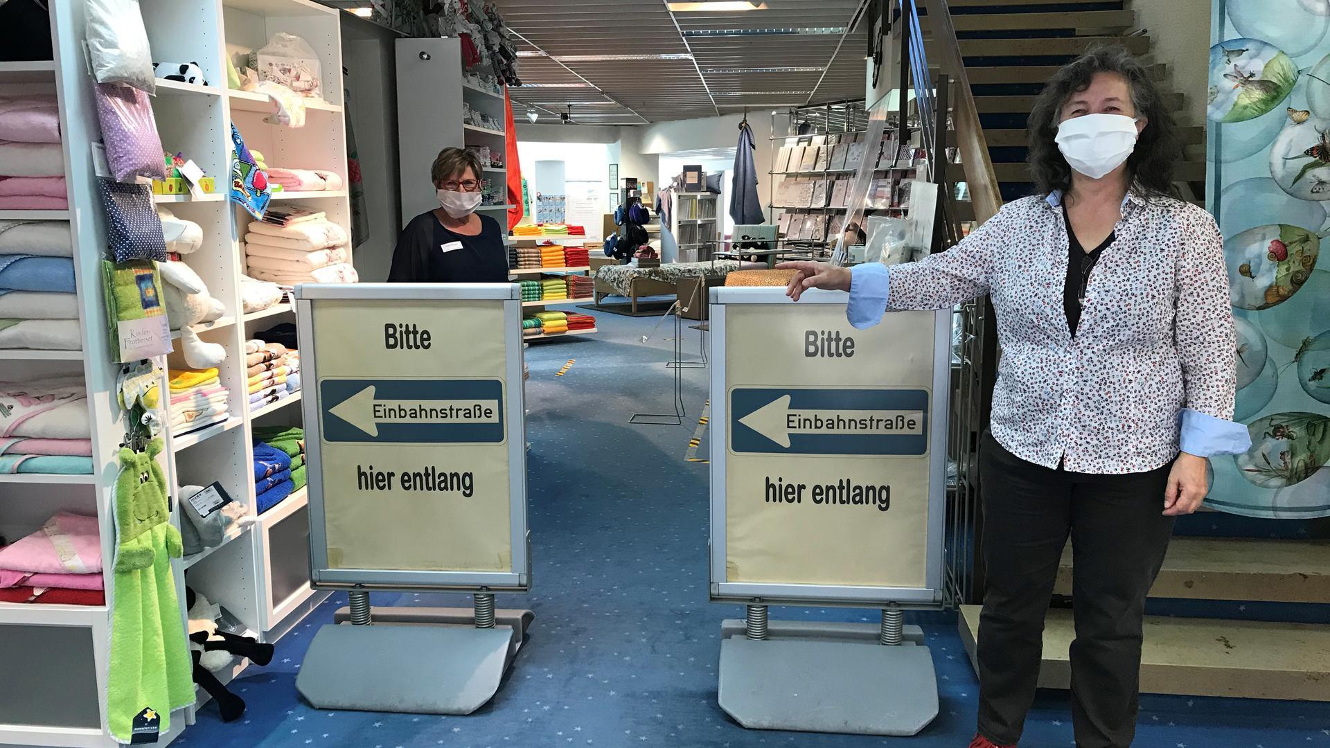 Zum Einkaufsbummel hier lang: Nach dem shutdwon haben sich die Einzelhändler in der Region für die Wiedereröffnung ihrer Läden präpariert.