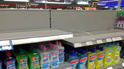In einem Acherner Supermarkt sind wegen des Coronavirus alle Desinfektions-Artikel restlos ausverkauft.