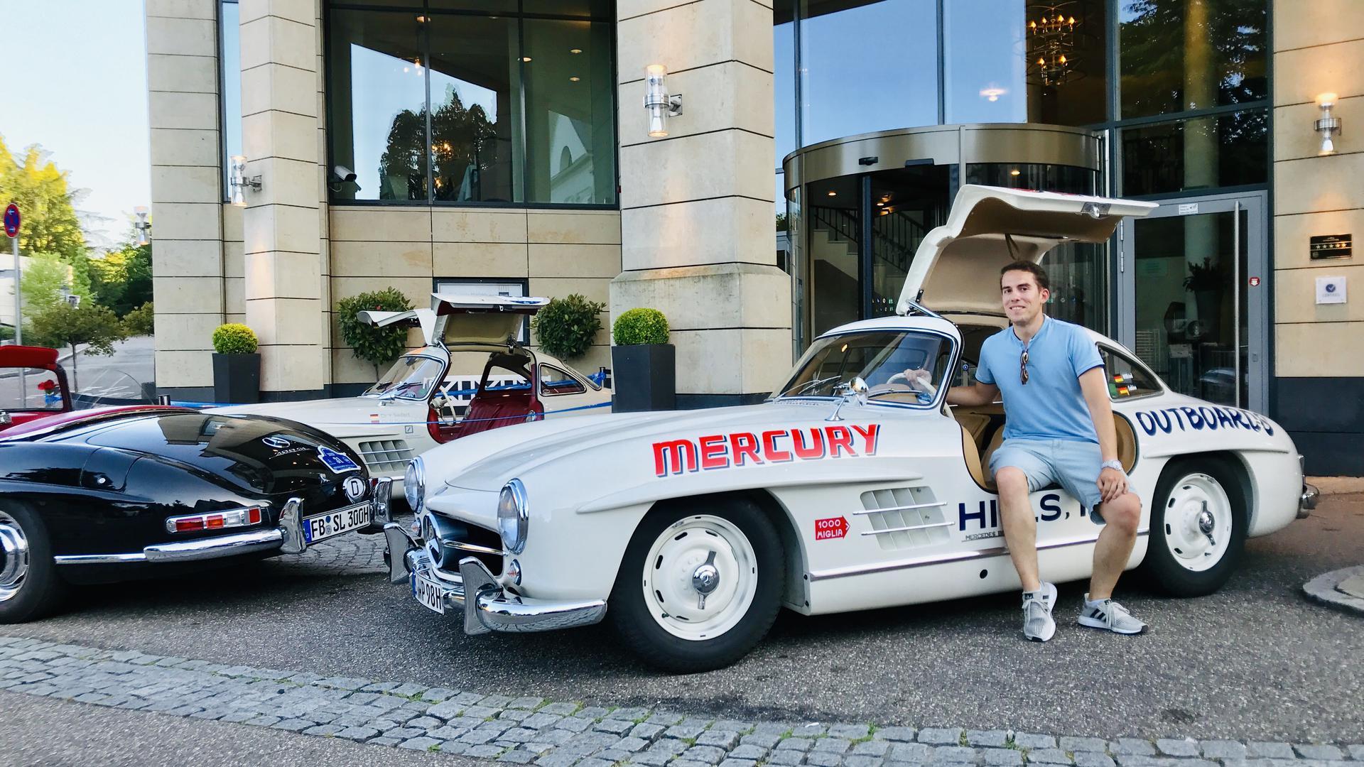 Legendär: Dieser Mercedes-Benz 300SL mit dem Baujahr 1954 gewann am 6. August 1955 mit Tim Flock am Steuer das einzige Nascar-Sportwagenrennen in Raleigh (North Carolina).