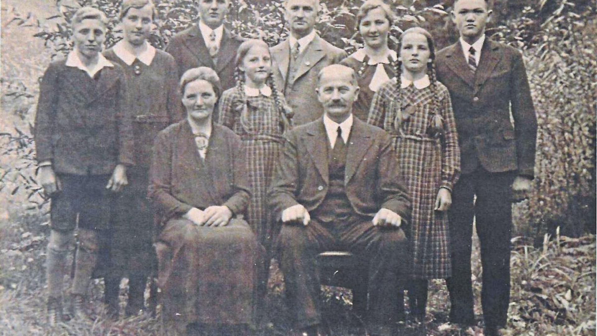 Rummel mit Familie 1936