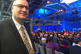 Volkmar Triebel, Geschäftsfaührer der Druckerei Printpark, ist jedes Jahr Gast beim IHK-Neujahrsempfang.