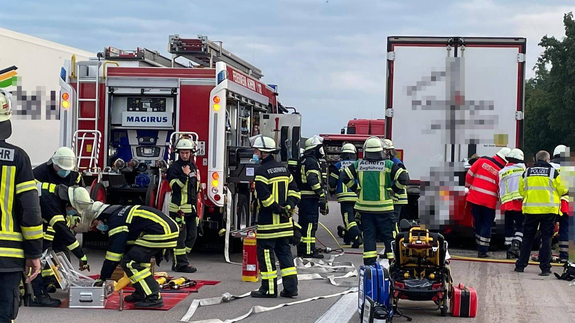 Auf der A5 zwischen Achern und Bühl hat sich ein schwerer Unfall ereignet.