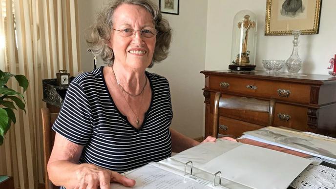 Ingrid Reinspach, Enkelin des Bruders des in die USA ausgewanderten John Ell, lebt heute noch in Renchen.