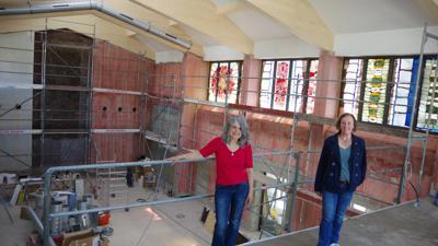 Baustelle in ehemaliger Kirche