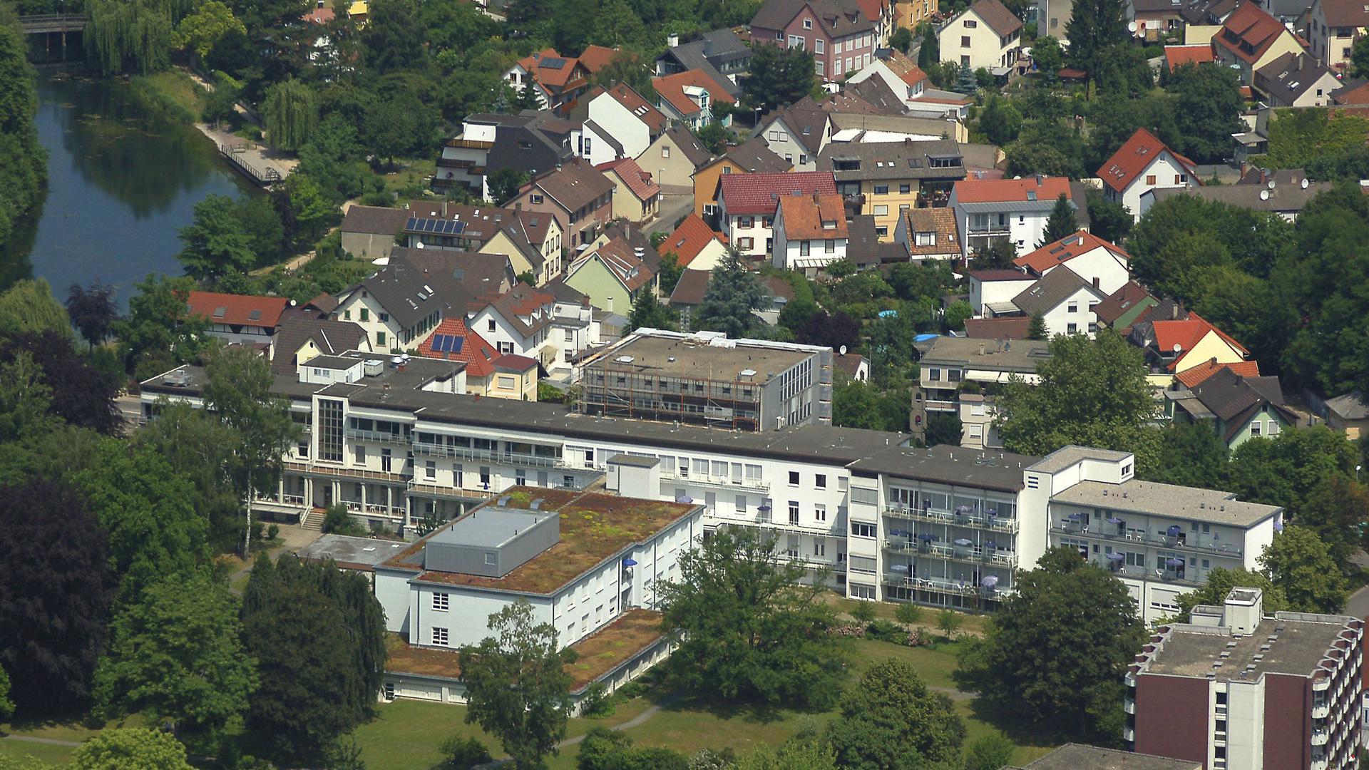 Ein Luftbild des Kehler Krankenhauses