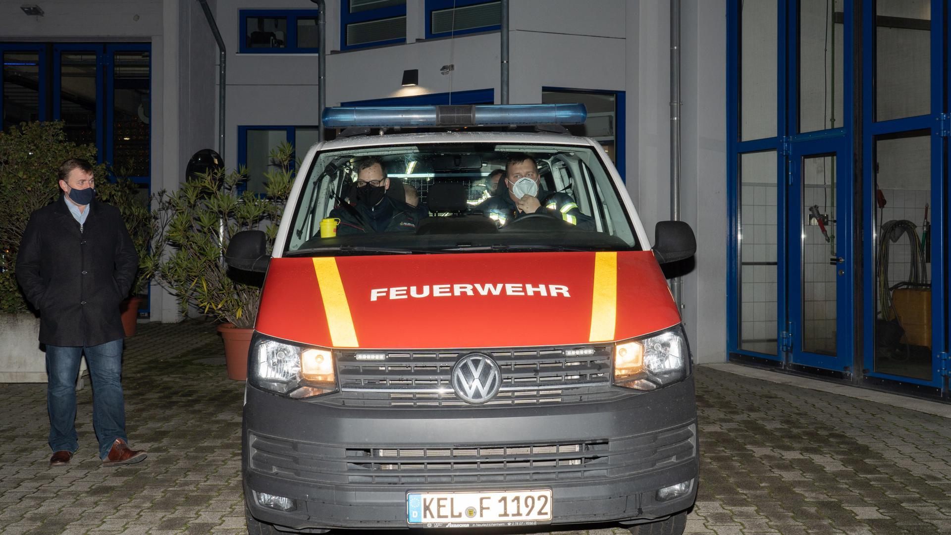 Vier Feuerwehrmänner aus Kehl leisten Hilfe im von einem Erdbeben der Stärke 6,4 auf der Richterskala getroffenen Sisak in Kroatien..