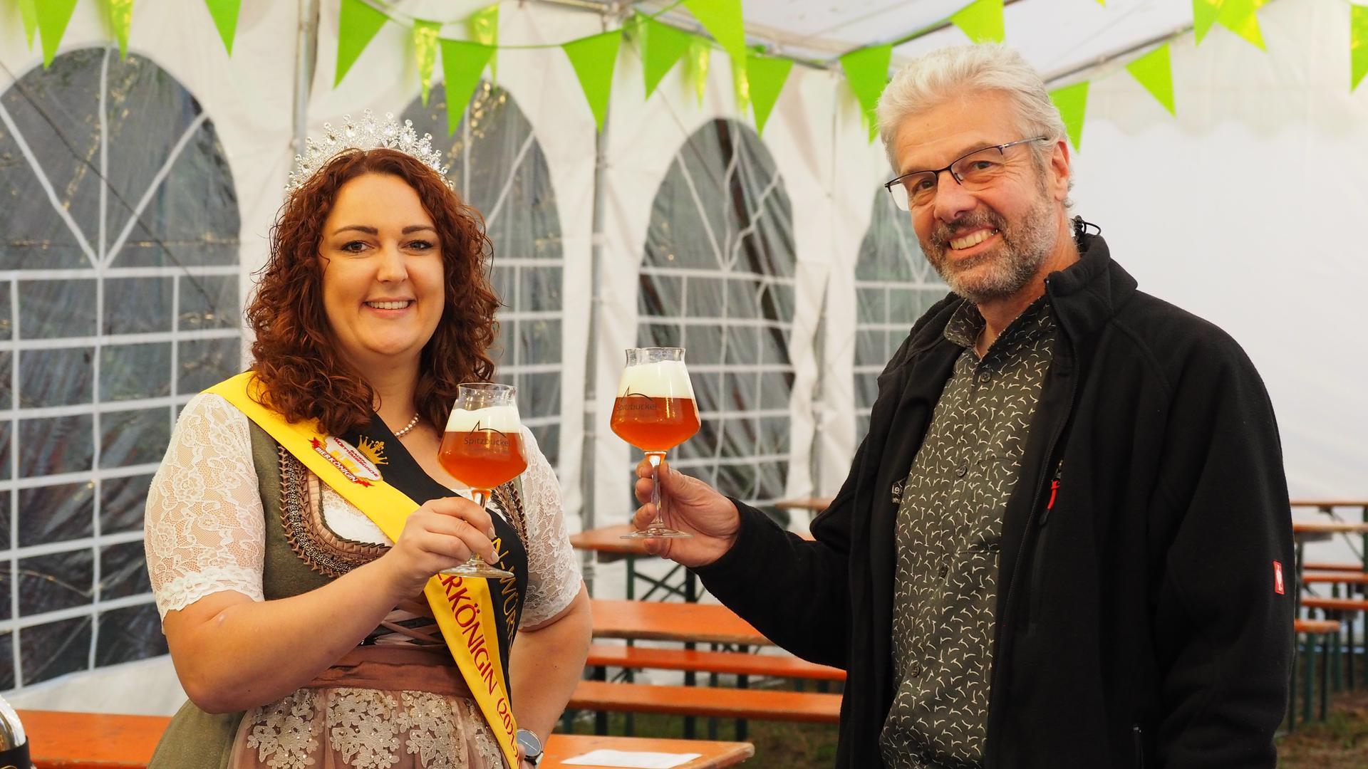 Besuch einer Bierkönigin