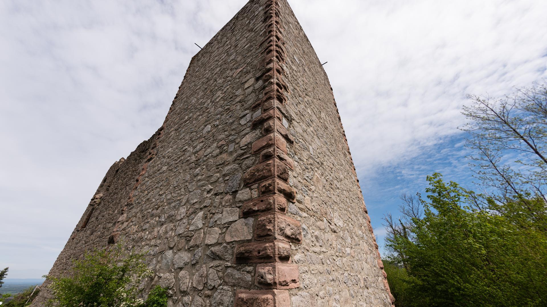 Burg Neuwindeck: Der 20 Meter hohe Turm aus Bruchstein überragt die Ruine.