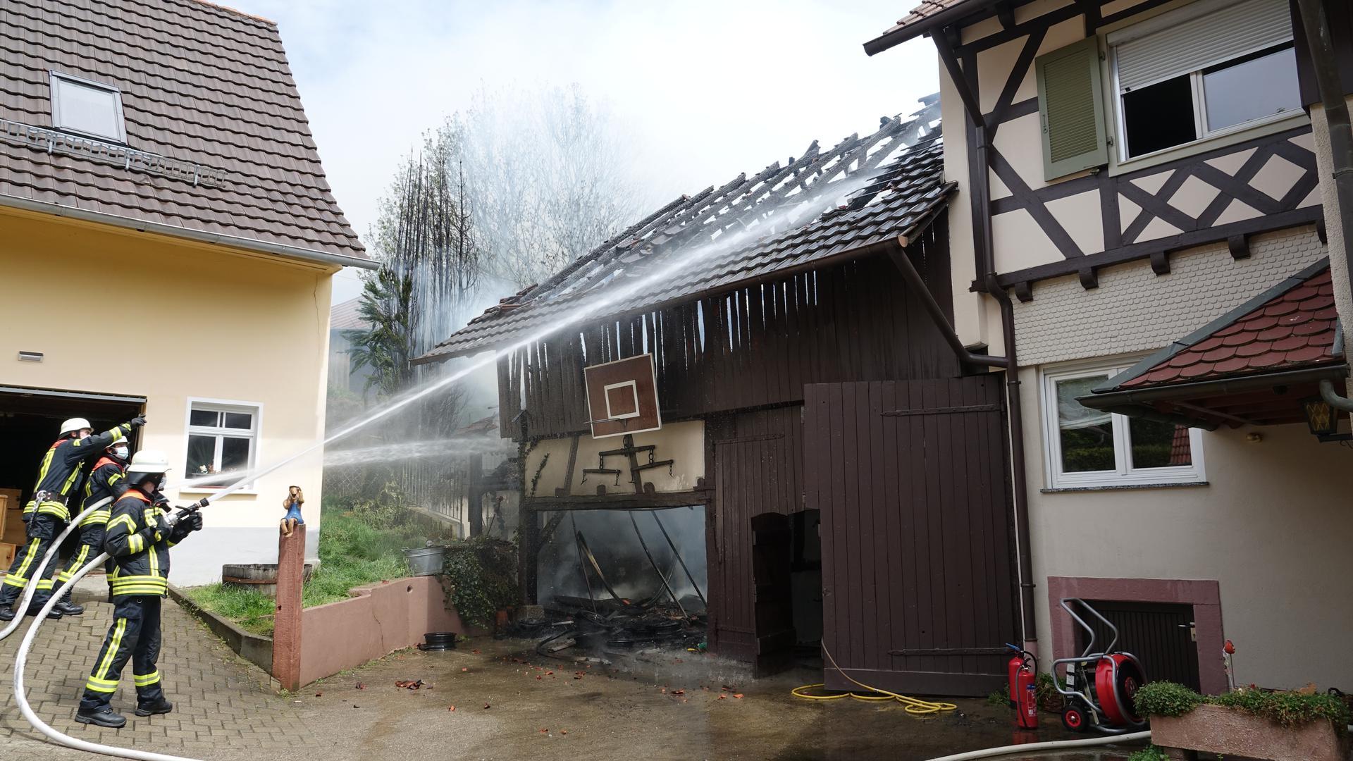 Scheune Feuerwehr