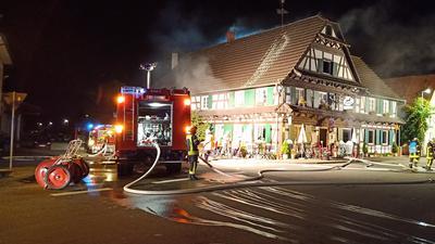 Feuer Fachwerkhaus Rheinau