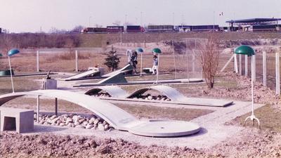 Bahnengolfanlage in Rheinau-Freistett in frühen Jahren 1982