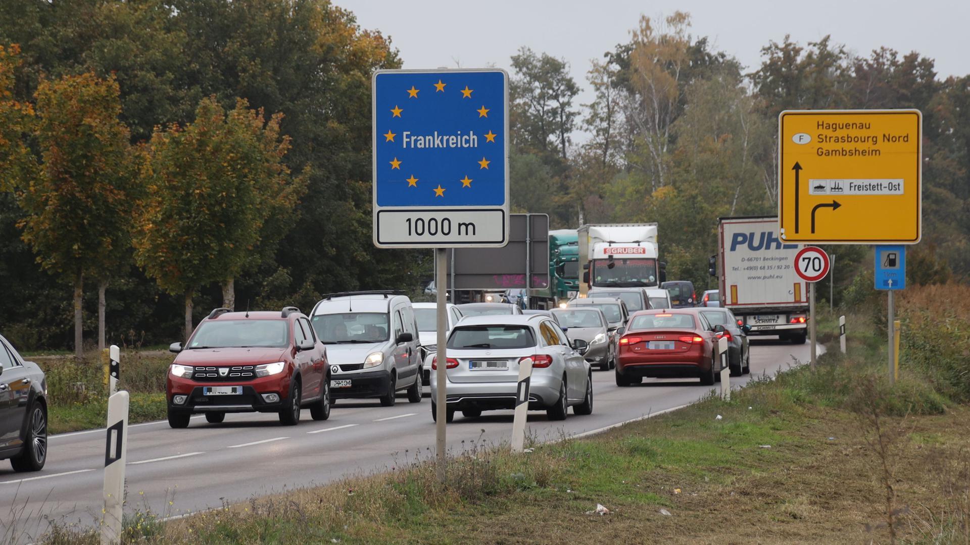 Französische Grenze Offen