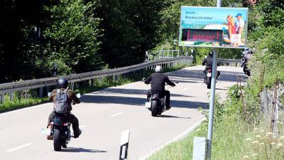 Sasbachwalden Lärmdisplay Motorrad Motorradlärm