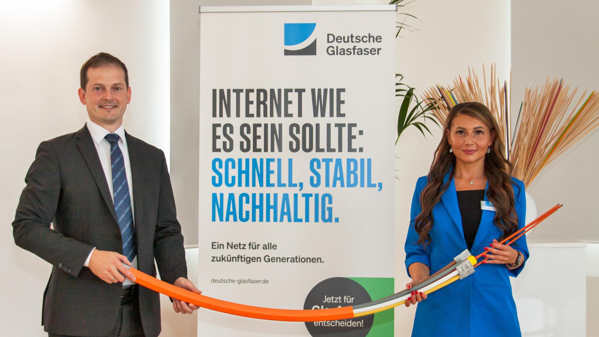 Willstätts Bürgermeister Christian Huber setzt in Sachen schnelles Internet jetzt auf den privatwirtschaftlichen Anbieter Deutsche Glasfaser. Am Montag stellte Marina Wilberger das Konzept des Unternehmens in Willstätt vor.