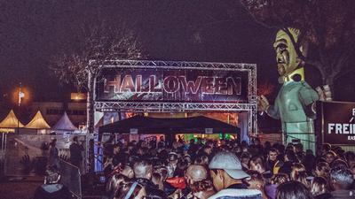 Eingangsbereich Disco Freiraum Rastatt zu Halloween