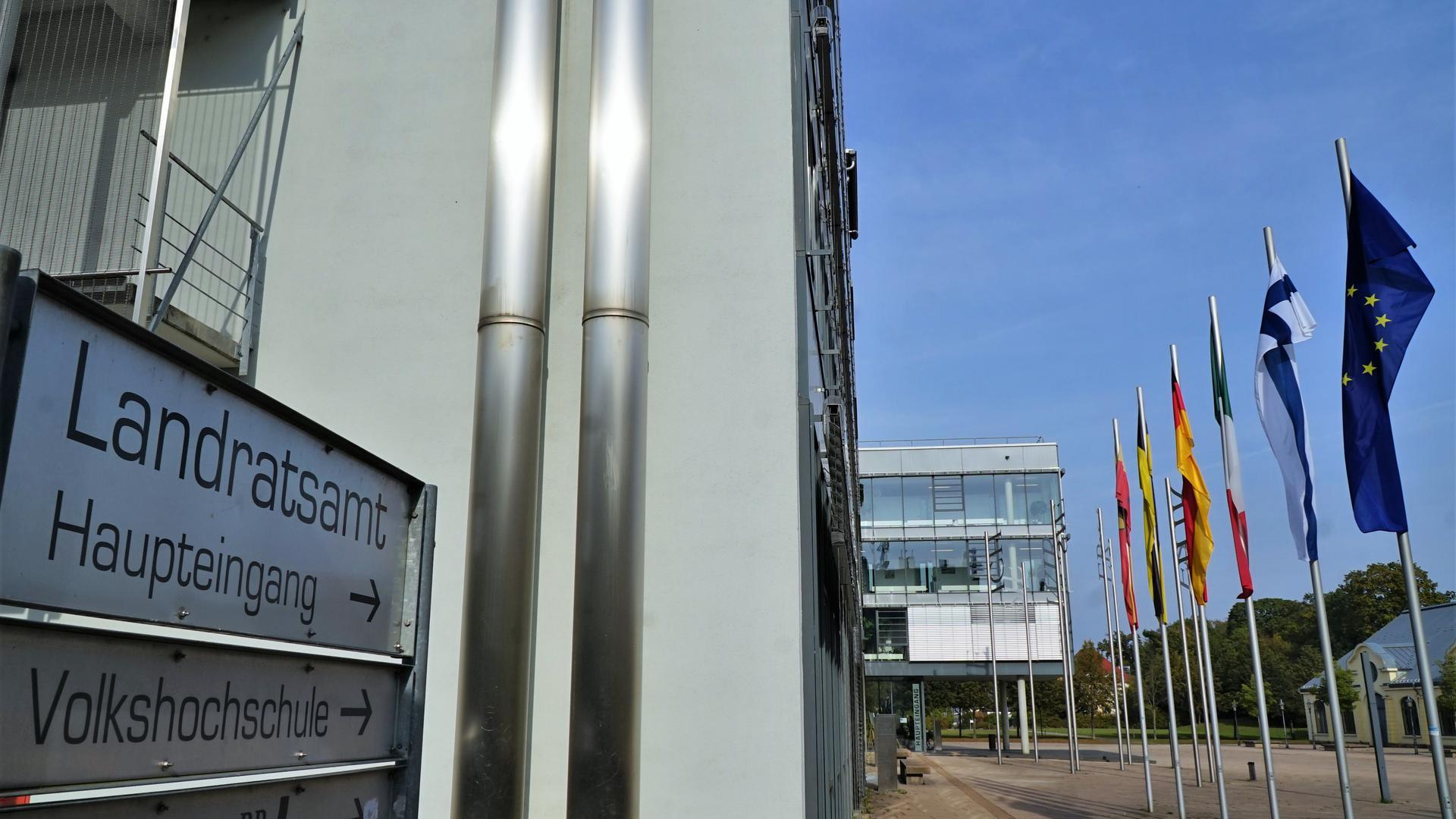 Blick auf das Landratsamt Rastatt