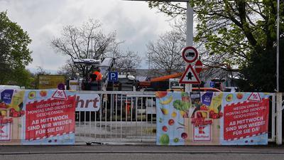 Der Parkplatz der neuen Kaufland-Filiale in Rastatt ist zwei Tage lang geschlossen.