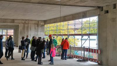 Blick in die Baustelle für die neue Bibliothek der Hans-Thoma-Schule Rastatt.