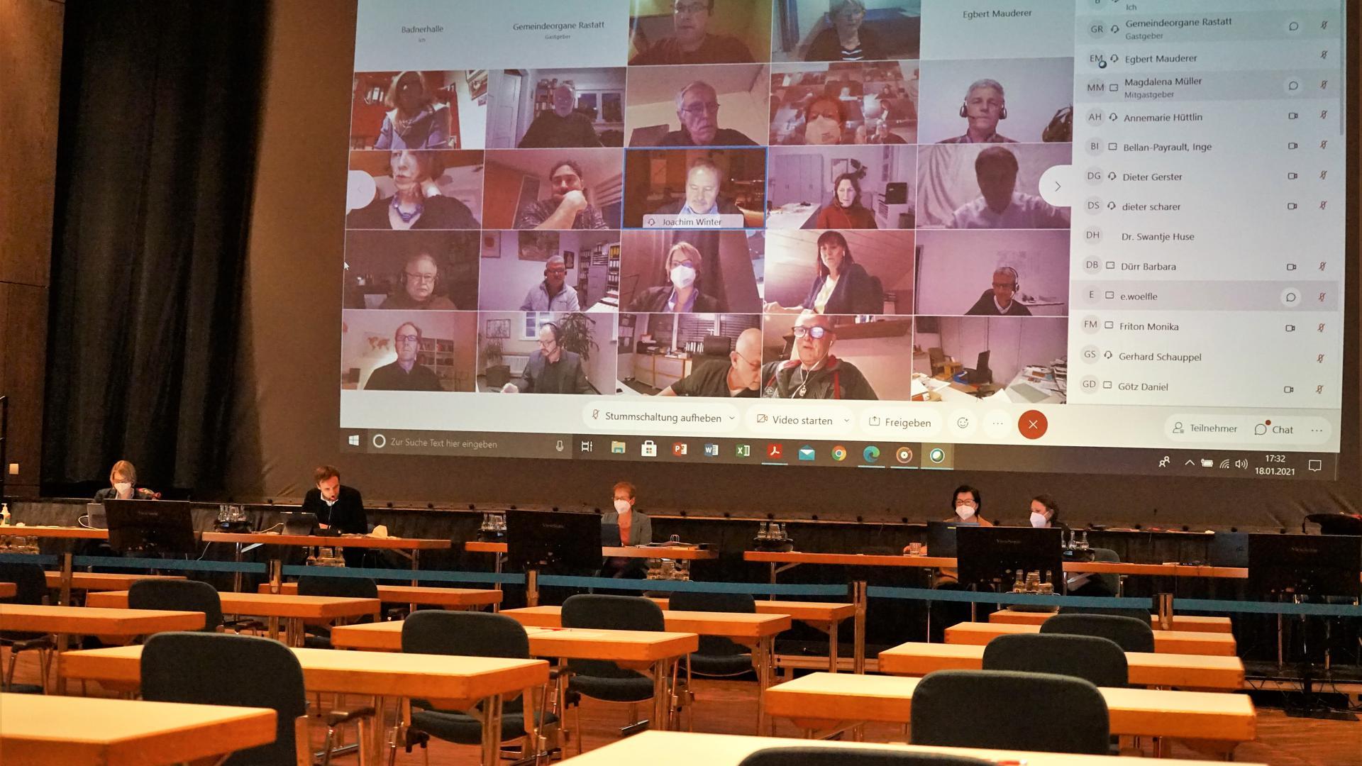erste digitale Ausschusssitzung in Rastatt