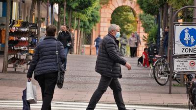 Eine Fußgängerzone.