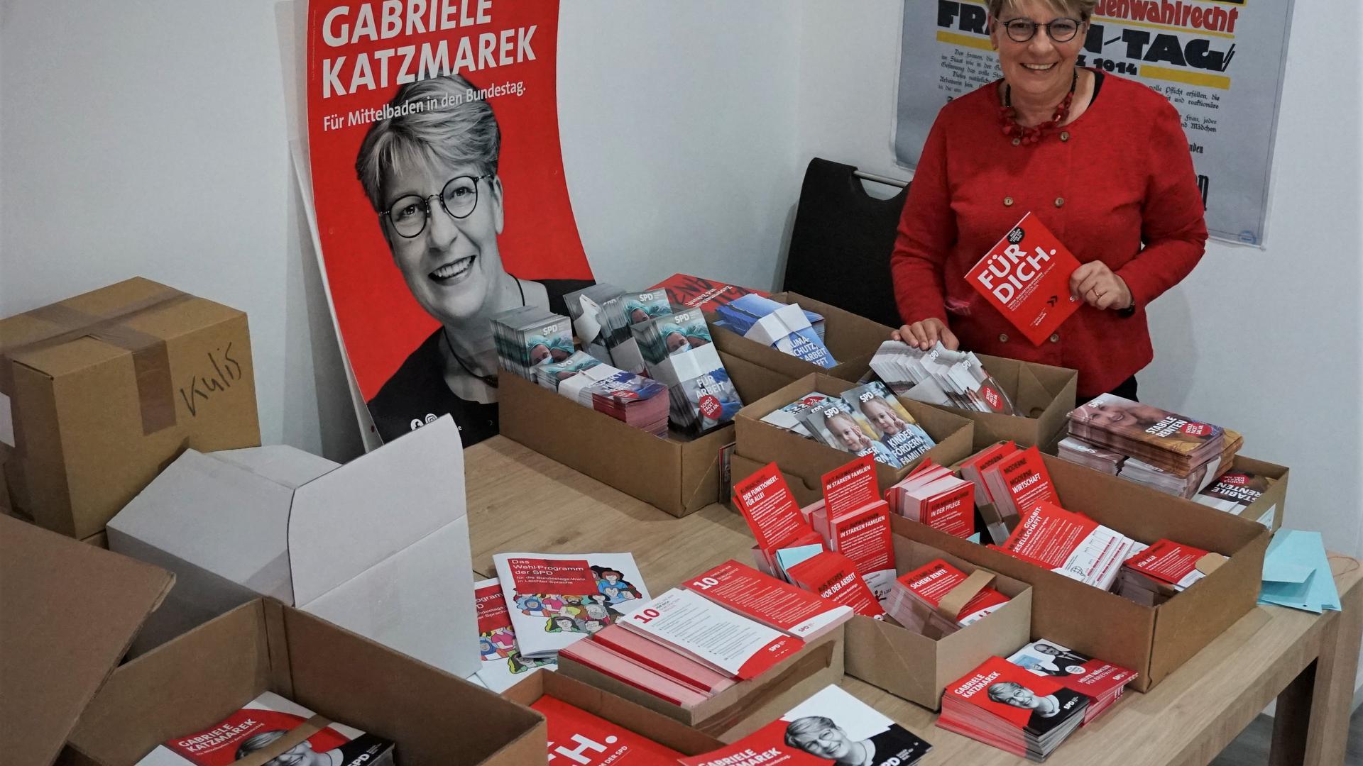 Gabriele Katzmarek in ihrem Büro.