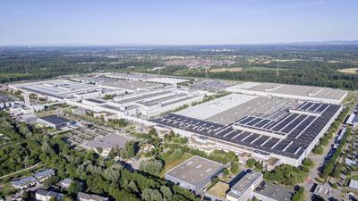 Mercedes-Benz Werk Rastatt, Deutschland: Die Produktion des EQA ist Ende 2020 gestartet.
