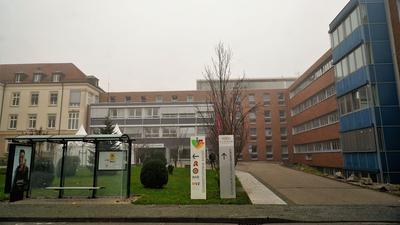 Ein Krankenhaus.