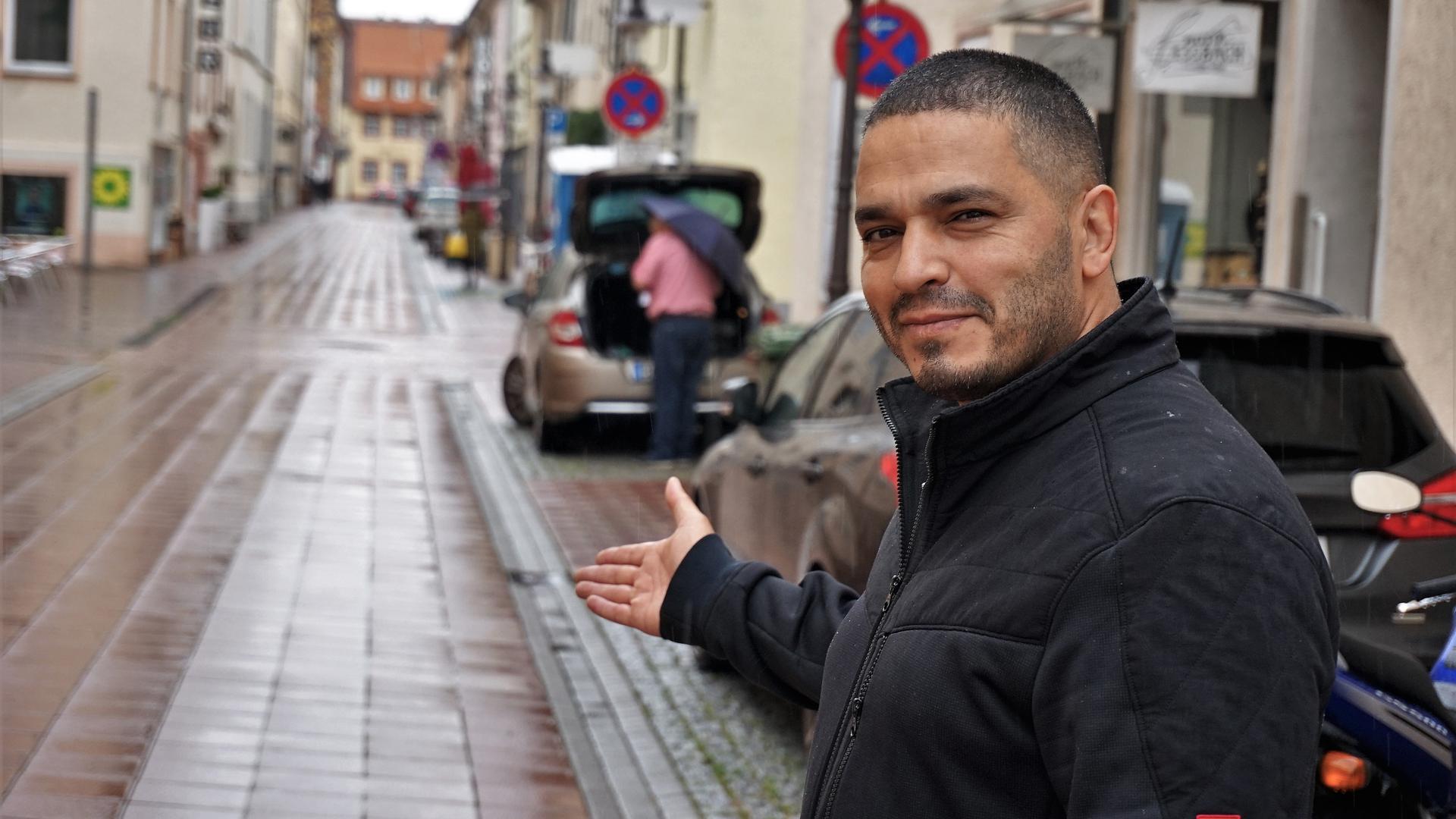 BNN-Leser Hakan Isik in der Schiffstraße Rastatt