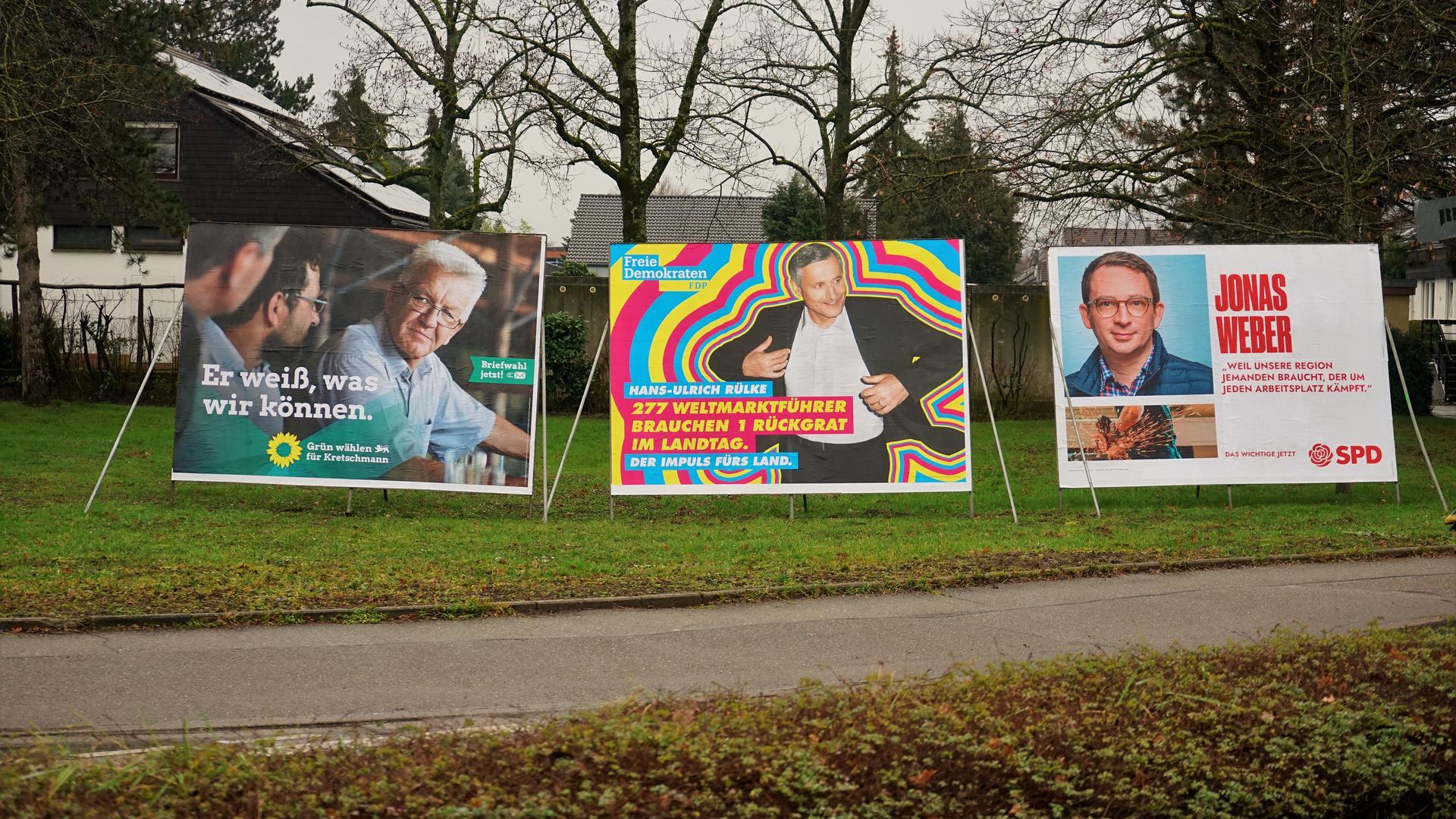 Wahlplakate.