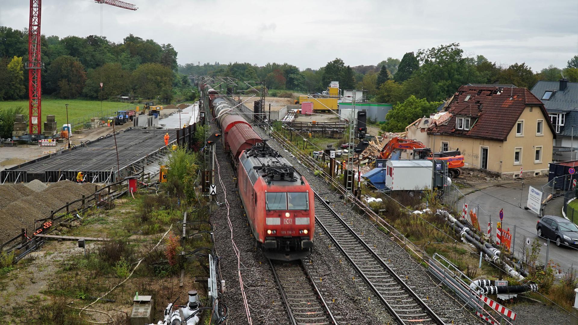 Eine Bahntrasse.