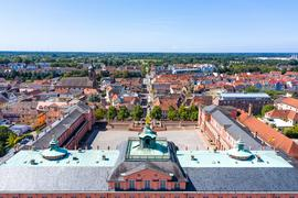 Luftaufnahme der Stadt Rastatt