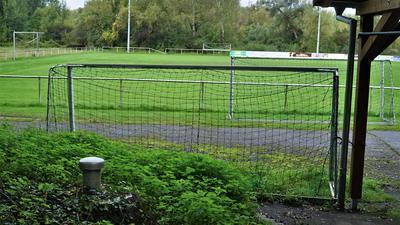 Ein Fußballplatz