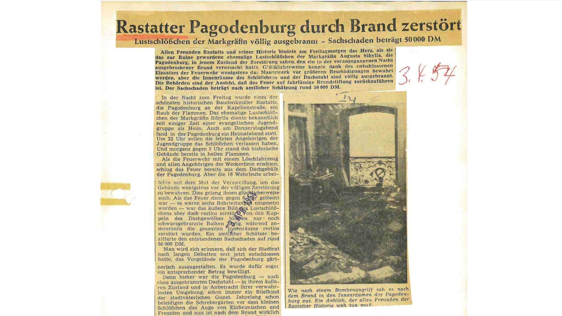BNN-Artikel vom 03.04.1954