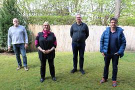 """Engagieren sich für """"Die Basis"""": Hubert Frank, Marion Hofmann, Thomas Lorenz und Ralf Baßler (von links)."""